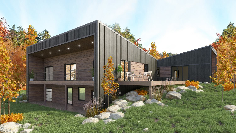 Modern design custom home