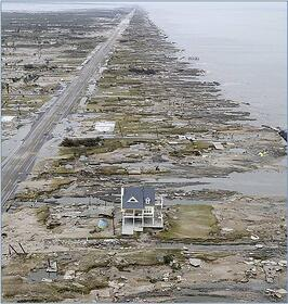 Hurricane house in Galveston TX