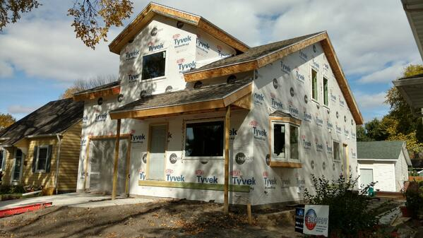 SIP house with Tyvek
