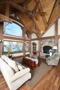 timber family room
