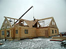 log home roof