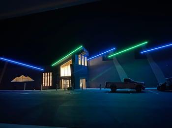 Navajo Blue Travel Center - night