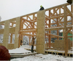 sips and timber frame walls