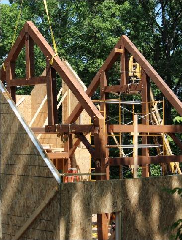 timber frame wall